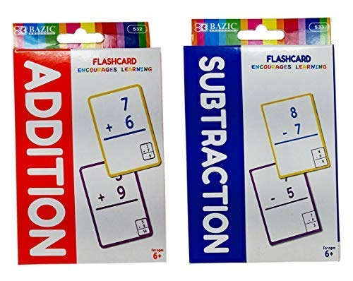 Bazic Products Flash Cards (Addition-Subtraction)