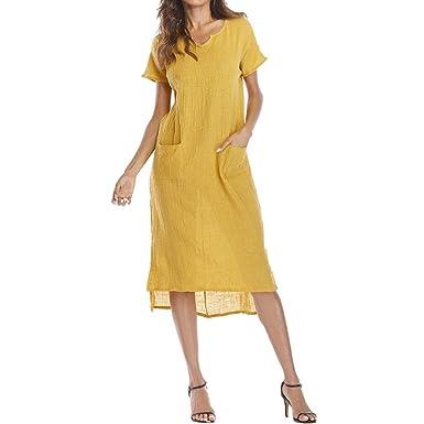 Vestidos De Verano Mujeres Casual Algodón Vestidos época