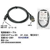 EIAJ極性統一#1プラグ(外径2.35/内径0.7mm )タイプ電源供給ケーブル USB→DC