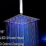 Lighted Shower Head Fyeer 16