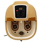Mewalker Portable Foot Spa Bath Massager with Bubble Heat Vibration LED Display Temperature Control (US STOCK)