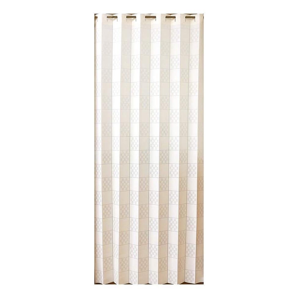 マイクロフォン中庭献身目隠し カフェ カーテン プチリーフ刺繍 シルク風 130×45cm