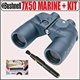 Bushnell 7X50 Marine Waterproof w/Compass Binoculars + Accessory Package - Bushnell ABUS7X50MWPK1