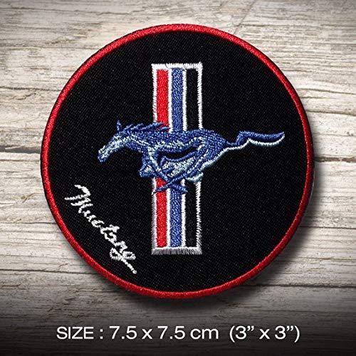 Mustang FORD T Sports Racing MOTORSPORT parche patch bordado con logotipo para planchar de hierro en apliques de recuerdo de accesorios