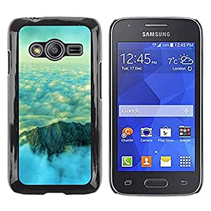Exotic-Star ( Nature Beautiful Mountain Clouds ) Fundas Cover Cubre Hard Case Cover para Samsung Galaxy Ace4 / Galaxy Ace 4 LTE / SM-G313F