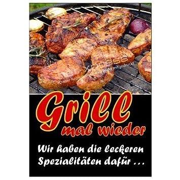Póster para Parrillas barbacoa Grill en alemán DIN A1, Cartel ...
