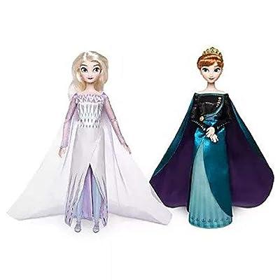 Shop Disney Queen Anna and Snow Queen Elsa Classic Doll Set ��� Frozen 2 ��� 11 1/2'' H: Toys & Games