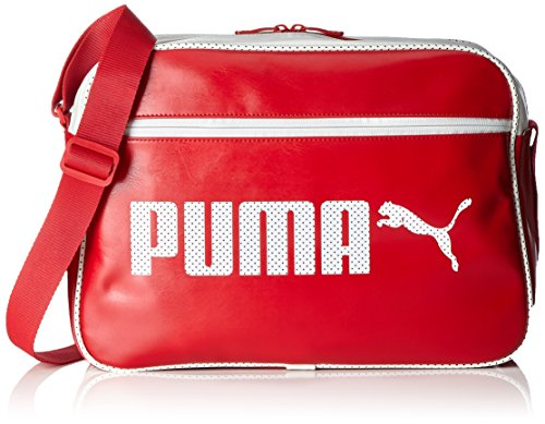 Puma Taglia Unisex Rosso Campus Unica Nero Shoulder Reporter bianco Borse rwYr1xPAq