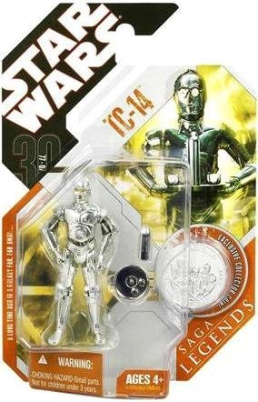 Star Wars Saga Legends TC 14 Action Figure w/ plastic silver coin
