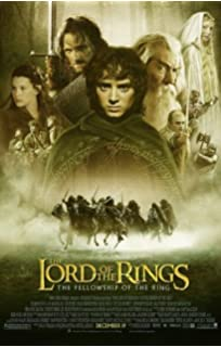LORD OF THE RINGS FELLOWSHIP OF THE RING MOVIE POSTER 1 Sided ORIGINAL  FINAL 27x40