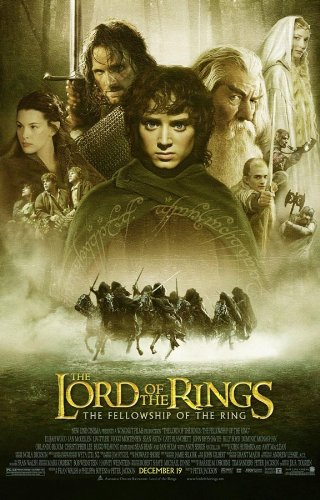 LORD OF THE RINGS FELLOWSHIP OF THE RING MOVIE POSTER 1 Side