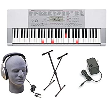 Casio LK280 Lighted Key Premium Keyboard Pack with Headphones, Power Supply, and Stand
