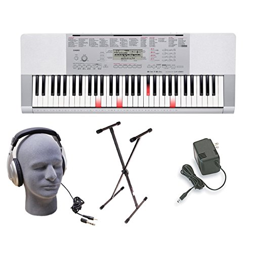 Casio LK-280 Lighted Key Premium Keyboard Pack with Headphon