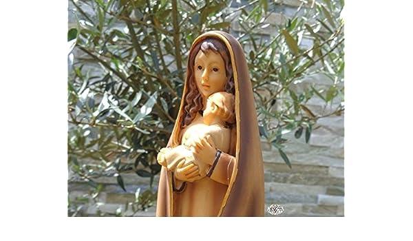 30 - 31 cm árbol - Santa María, pintadas a mano y barnizadas - gran madre de Dios con niño Jesús, natural marrón claro con vestido/abrigo, como Madonna ...