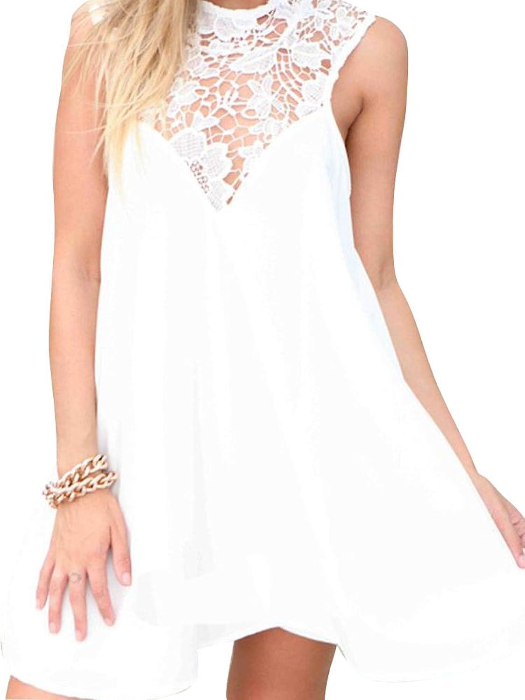 Keral Frauen Elegante Abend Cocktail Partyspitze Rückenfreie Kleidung Ärmelloses Kleid