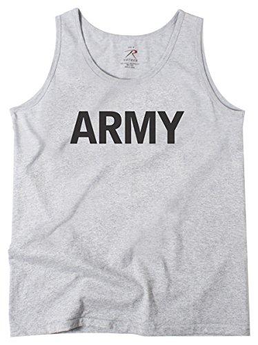 日トライアスロンアルミニウムロスコ タンクトップ グレー M US ARMY