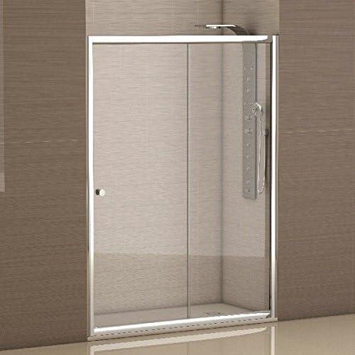 CV - Mampara frontal Cromo Transparente 138-140x185cm: Amazon.es: Bricolaje y herramientas