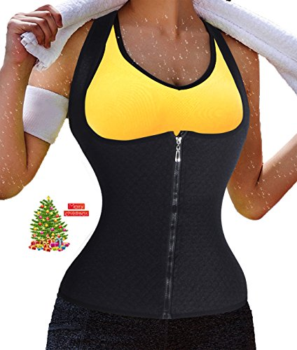 Bubble Wrap Man Costume (waist cincher belt corset christmas hot sweat Fitness shapers shapewear bodysuit sauna suit costume for women for men with long torso ultra-thin seamless firm compression fashion (L, Black))