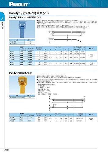 Panduit PLT1M-C71 Pan-Ty Locking Cable Tie, Miniature, 3.9-Inch Length, Peek, Translucent Brown (100-Pack) by Panduit (Image #2)