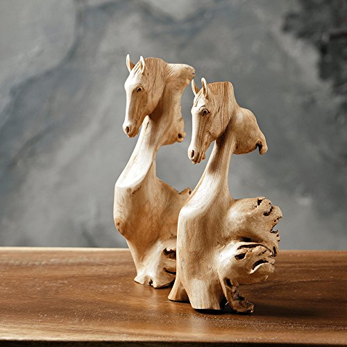 - Hand Carved Horse Head Carvings Wood Parasite ornament