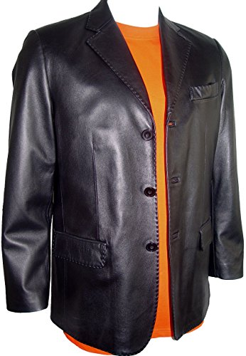 Johnnyblue Men 1021 Big Long Tall All Size Lamb Fine Leather Blazer by Johnnyblue (Image #6)