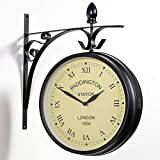 Paddington Station Weather Resistant Double Sided Garden Outdoor Wall Clock - 26cm (10.4in)