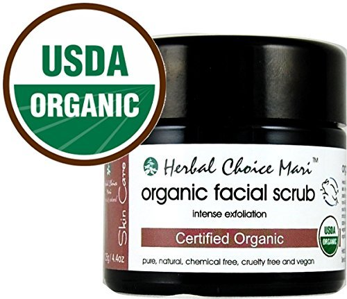 Herbal Choice Mari Organic Facial Scrub - Intense Exfoliation 125g/4.4oz Jar Therapy G 3 Step System Kit 90 Days +