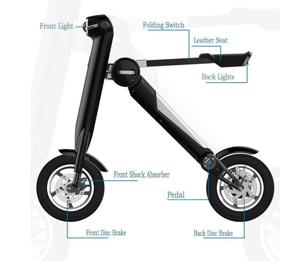 Amazon.com: TX Triangle Scooter eléctrico súper ligero ...