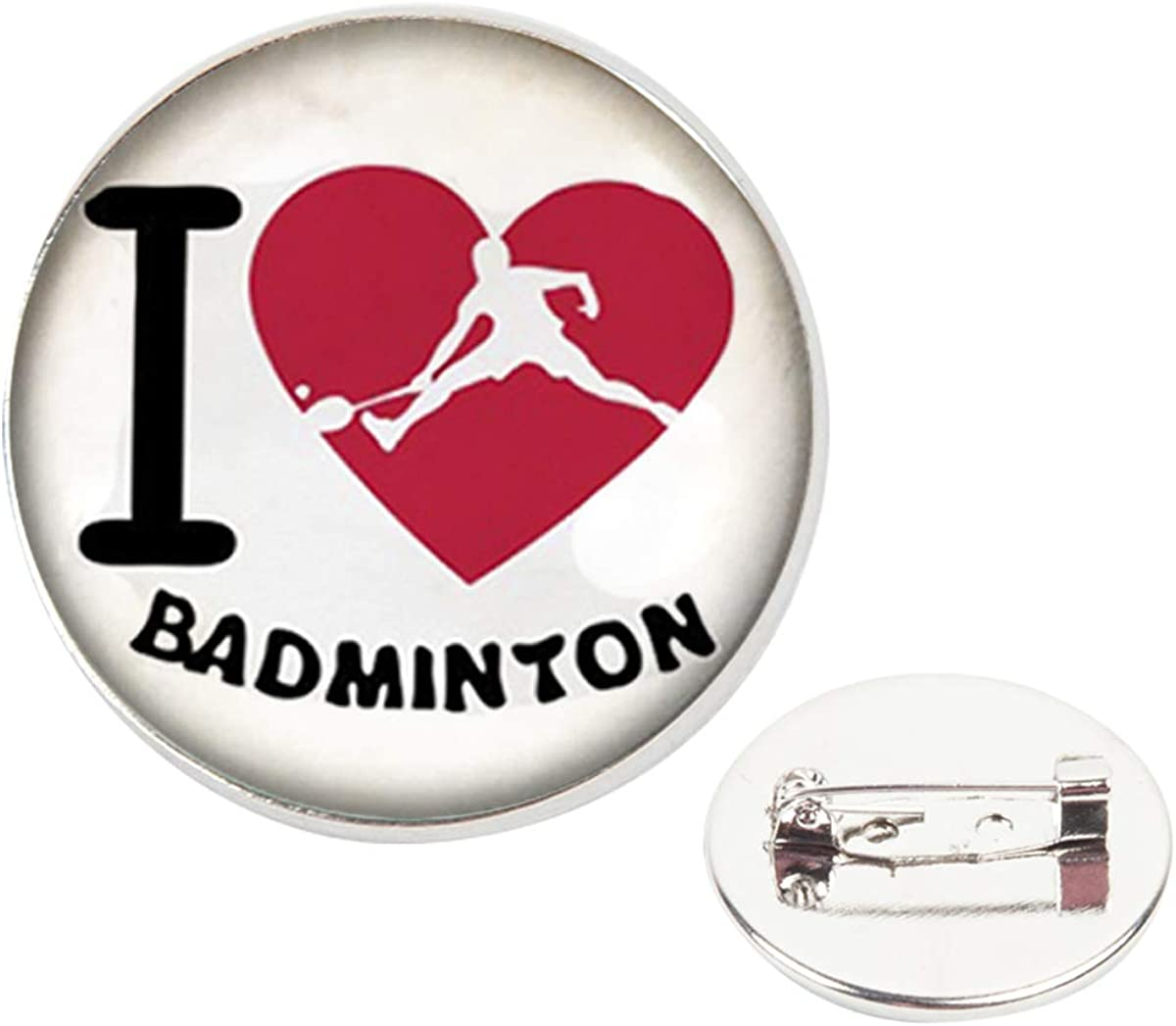 Pinback Buttons Badges Pins I Love Badmintons Lapel Pin Brooch Clip Trendy Accessory Jacket T-Shirt Bag Hat Shoe