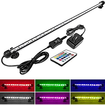 MingDak LED Aquarium Light for Fish Tanks,30 LEDs,22.5-Inch,RGB Color
