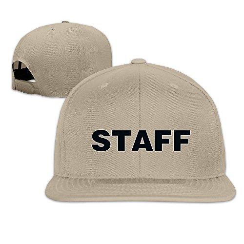 Black Staff Event Concert Party Festival Snapback Hats Flat Brim Baseball Hat ()