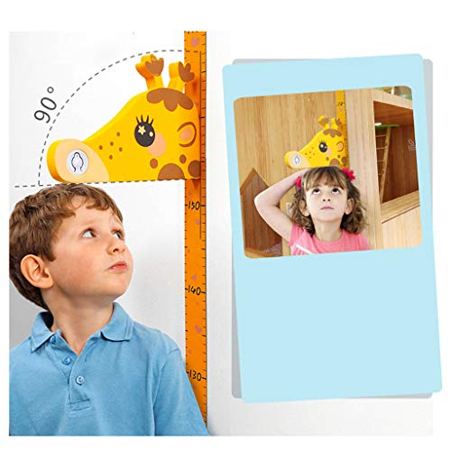 (Fine Kids Growth Chart, Height Measurement Wall Ruler for Baby & Adult, Fabric Canvas Baby Measuring Tools Wall Hanging Height Chart, Easy to Install & Remove (A))