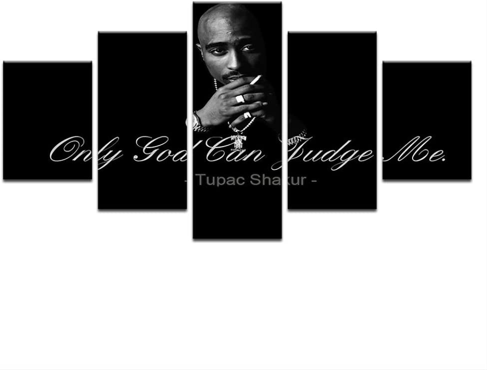 canvas paintings wall art5 Pieces 2Pac Makaveli Tupac Amaru Shakur Modern Home Wall Decor Canvas Picture Art HD Print Painting On Canvas For Living Room