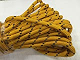 3/4'' X 150' Double Braided Polyester Arborist Bull Rope, Gold/Black