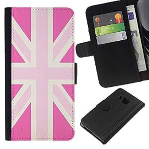 Stuss Case / Funda Carcasa PU de Cuero - Gay Gran Bretaña Bandera País - HTC One M7