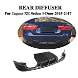 JCSPORTLINE Carbon Fiber Rear Lip Diffuser Spoiler Bumper for Jaguar XE 2015-2017