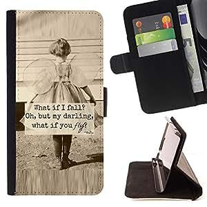- Little Girl Sepia Mother Love Inspiring - - Prima caja de la PU billetera de cuero con ranuras para tarjetas, efectivo desmontable correa para l Funny HouseFOR Sony Xperia Z1 L39