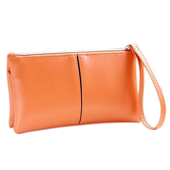 gotoole - Cartera para mujer doble capas bolso Tarjeta Soporte Para Teléfono Bolsa de cambio de embrague bolso de mano: Amazon.es: Ropa y accesorios