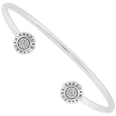 fd05c4895 Amazon.com: Pandora 590528CZ-3 Signature Bangle Bracelet, 7.5 Inch: Jewelry