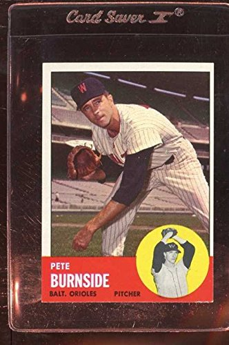 1963 TOPPS #19 PETE BURNSIDE EXMT *95284