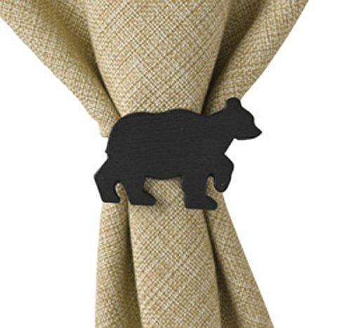 Park Designs Black Bear Napkin Ring, Set Of 4