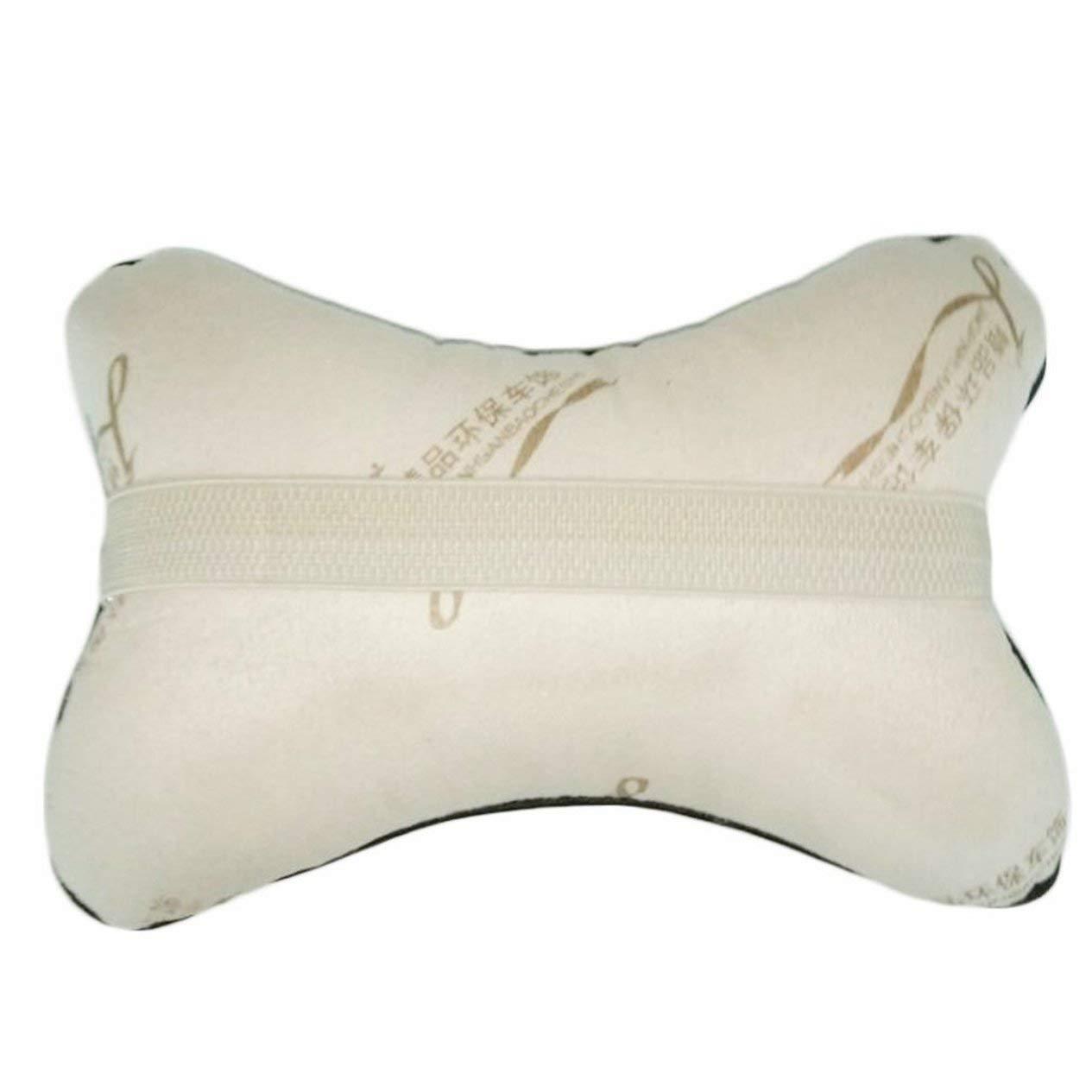 transpirable de piel sint/ética EdBerk74 para reposacabezas de coche accesorios para interior de coche Almohada universal para reposacabezas con forma de hueso