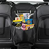 MATCC Car Seat Back Organizer Seat Partition Storage Bag Seat Central Storage Seat Kids Toy Storage, Back Seat Protector / Kick Mat