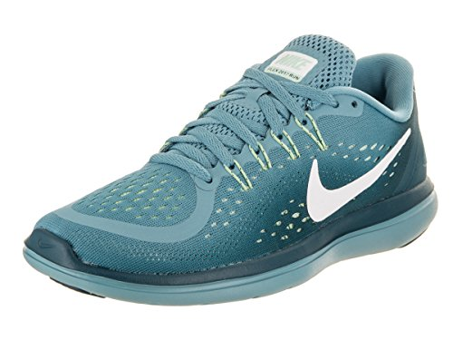 NIKE Women's Flex 2017 RN Running Shoe Cerulean/White/Space Blue/Mint Foam Size 9 M US by NIKE