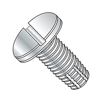 #4-40 Thread Size Type F Steel Thread Cutting Screw Pan Head Slotted Drive Pack of 100 Zinc Plated Finish 1//4 Length
