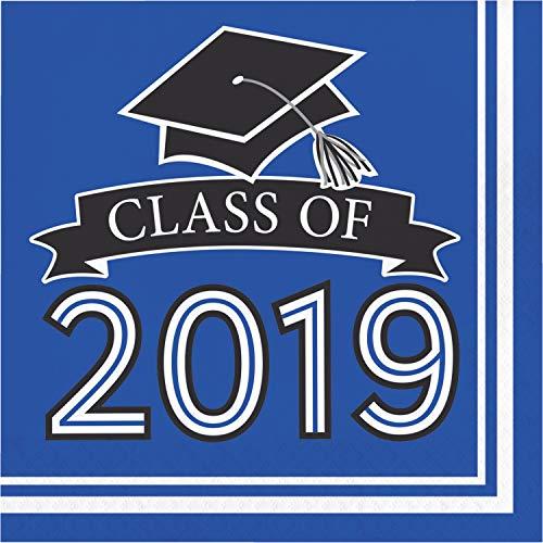 Blue Class of 2019 Napkins, 108 ct -