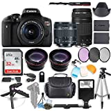 Canon EOS Rebel T6i DSLR Camera with Canon 18-55mm STM & Canon 75-300mm III Lens Kit + 0.43x Wide Angle Lens + 2x Telephoto Lens + 32GB SD Card + HD Filter Kit + Flash Diffusers + Accessory Bundle