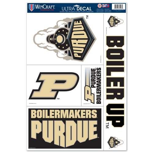 WinCraft Purdue Boilermakers Ultra Decal Set - 11'' X 17''