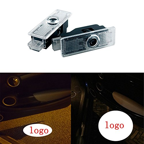 2pcs Car Door Welcome Courtesy Lamp Logo Light for Mini Cooper Ghost Shadow Led Projector Lights