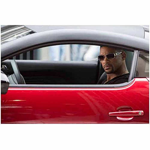Focus Movie 2015 Will Smith Wearing Sunglasses Driving Red Car Looking Out Window Car 8 x 10 - Sunglasses Movies